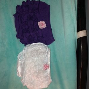 Other - Pair of ruffle bottom baby bloomers. NWOT